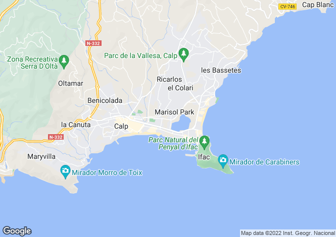 Map for Calpe