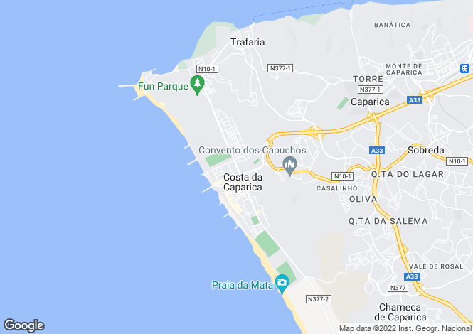 Map for Costa da Caparica, Estremadura
