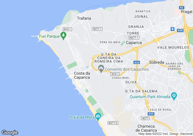 Map for Estremadura, Caparica