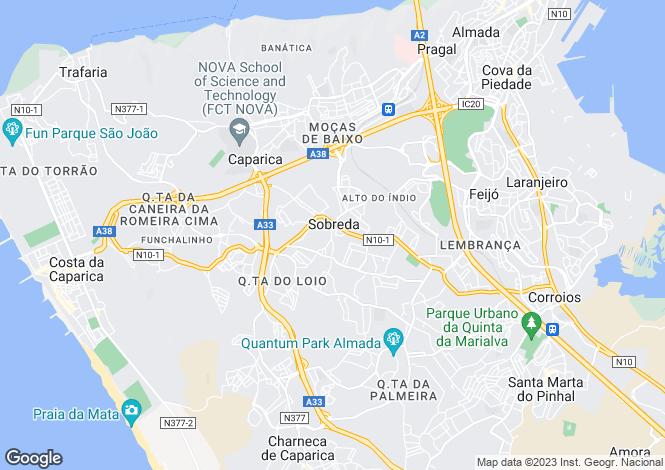 Map for Charneca de Caparica e Sobreda, Almada, Setúbal