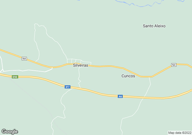 Map for Portugal,Évora,Silveiras