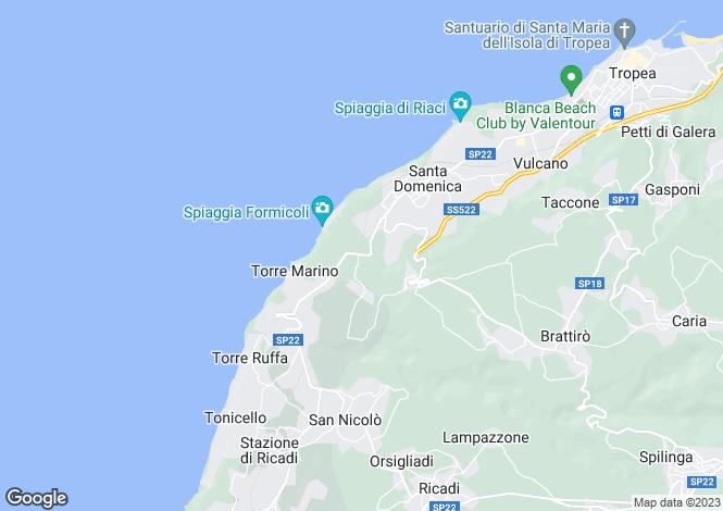 Map for Calabria, Vibo Valentia, Santa Domenica