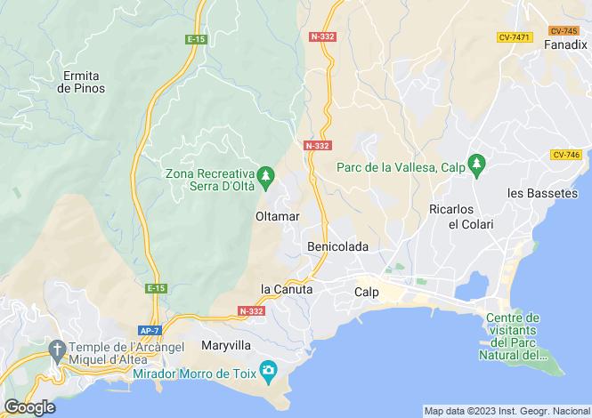 Map for Calpe, Alicante, Valencia
