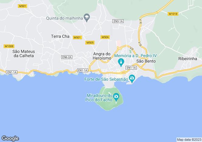 Map for Angra (Santa Luzia), Angra do Heroísmo, Terceira
