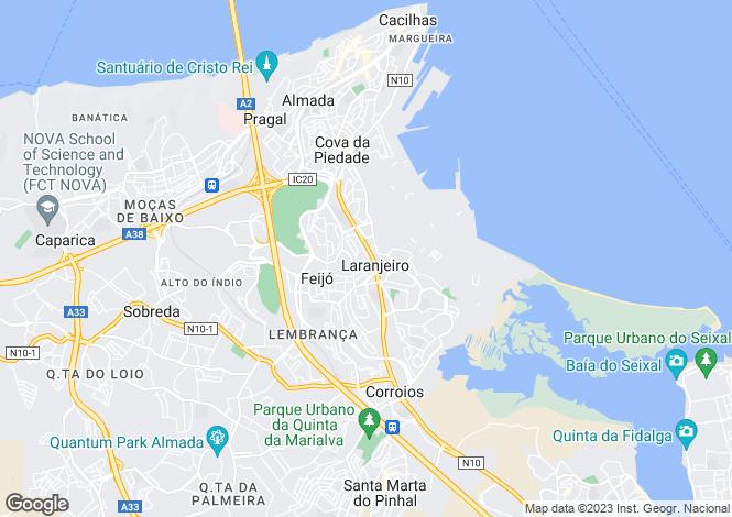 Map for Laranjeiro e Feijó, Almada, Setúbal