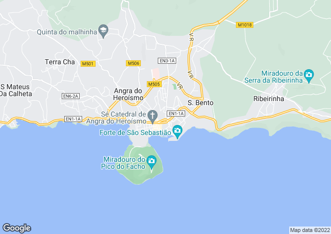 Map for Azores