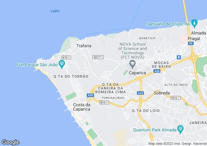 Map for Portugal,Setúbal,Caparica