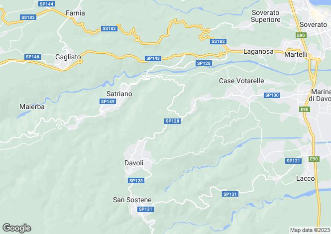 Map for Calabria, Catanzaro, Davoli