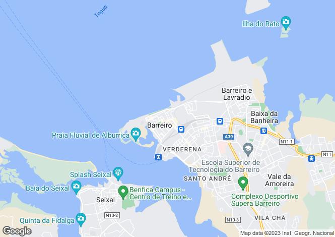 Map for Setúbal, Barreiro