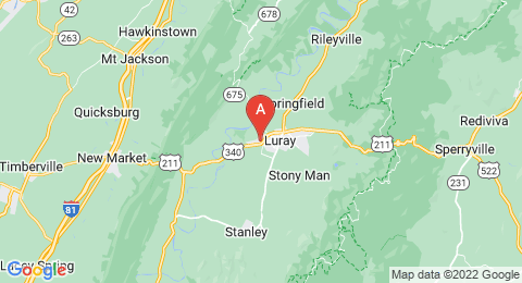 map of Luray Caverns (United States of America)