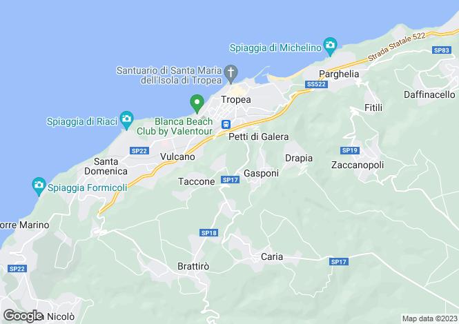 Map for Sant`Angelo, Vibo Valentia, Calabria