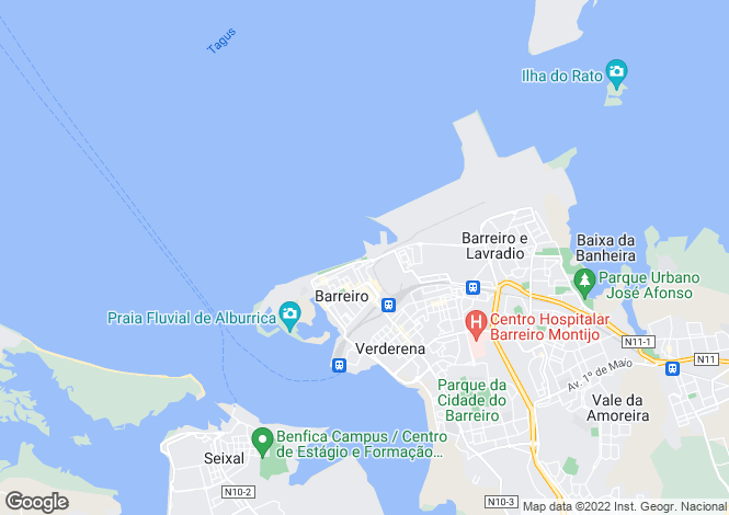 Map for Portugal,Setúbal,Barreiro
