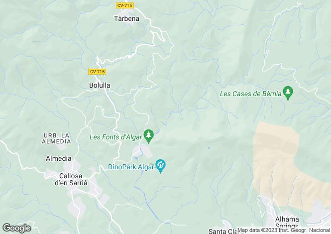 Map for Benissa, Alicante, Spain
