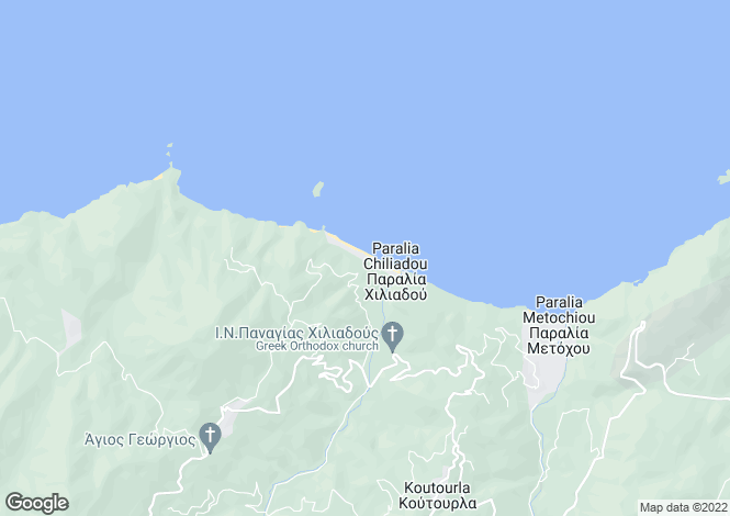 Map for Kymi, Evvoia