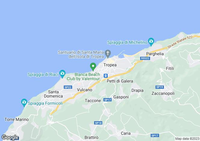 Map for Calabria, Vibo Valentia, Tropea