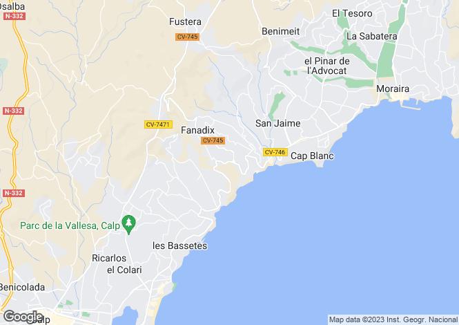 Map for Benissa, Valencia