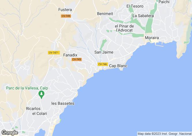 Map for Fanadix, Benissa, Alicante