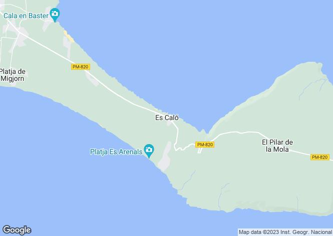 Map for Es Caló, Formentera, Ibiza, Spain