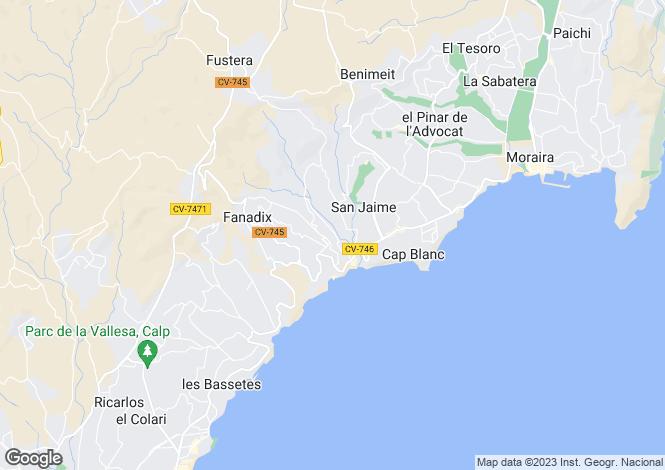 Map for Moraira, Valencia
