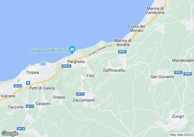 Map for Calabria, Vibo Valentia, Parghelia