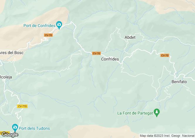 Map for Confrides, 03517, Spain