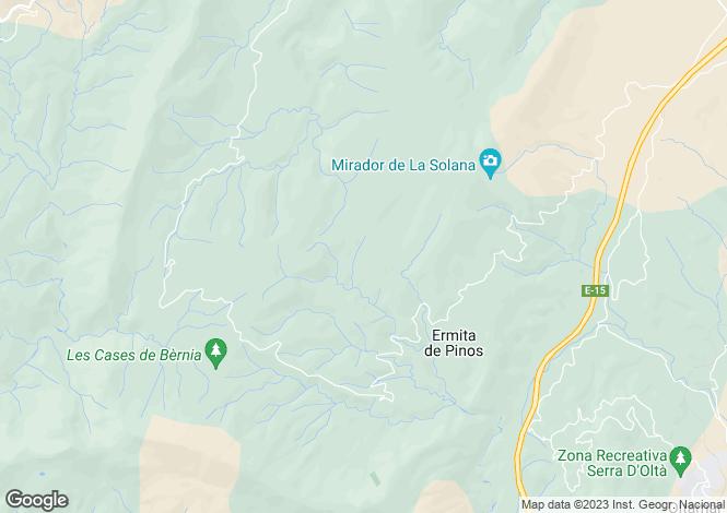 Map for Buzon, Benissa, Alicante