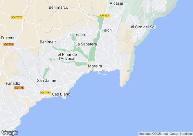 Map for Teulada, Teulada, Alicante