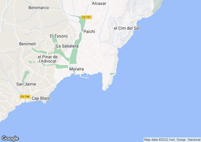 Map for El Portet, Alicante, Spain