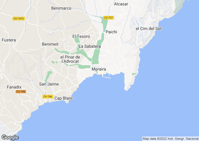 Map for Moraira