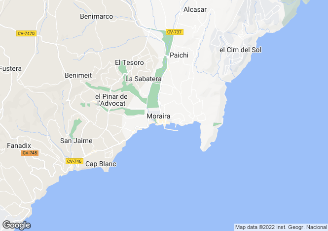 Map for Moraira, Valencia, 03724, Spain