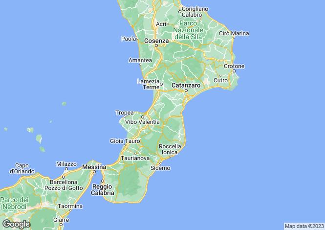 Map for Calabria, Calabria
