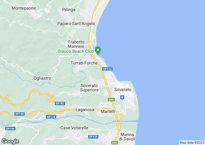 Map for Calabria, Catanzaro, Soverato