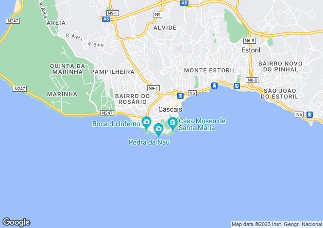Map for Cascais, Lisbon