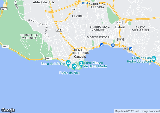 Map for Lisbon, Portugal