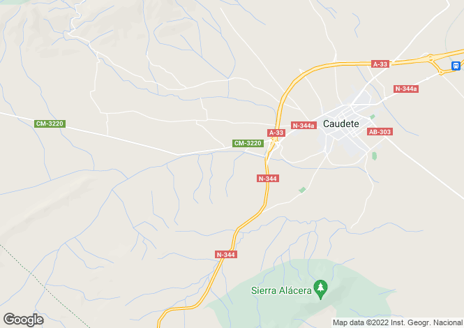 Map for Caudete, Albacete, 02660, Spain