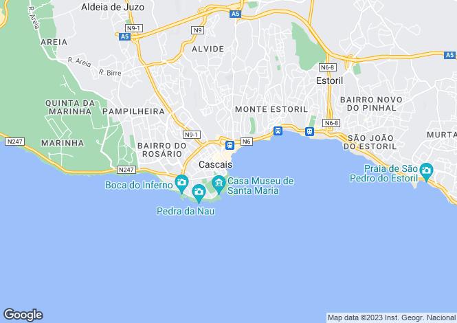 Map for Guincho, Cascais, Lisbon, Portugal, 2755-669
