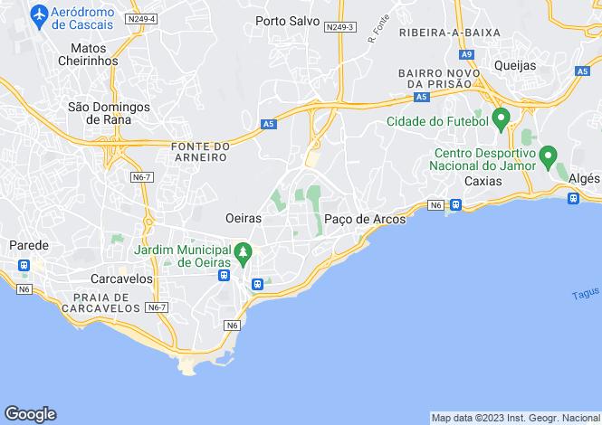 Map for Oeiras, Lisbon