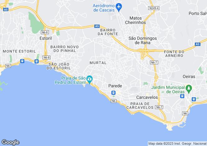 Map for Carcavelos och Parede, Lisboa, Portugal