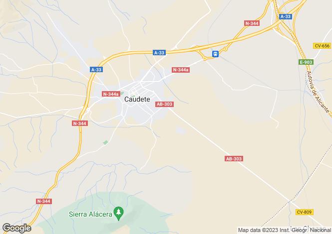 Map for Castile-La Mancha, Albacete, Caudete