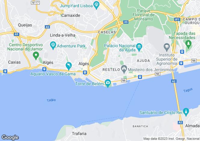 Map for Belém, Lisboa, Lisboa