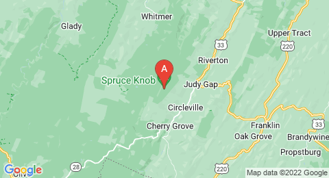 map of Spruce Knob (United States of America)