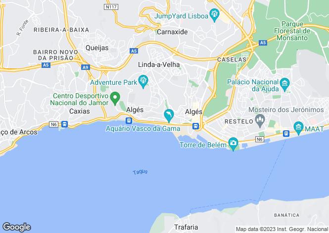 Map for Algés, Linda-a-Velha e Cruz Quebrada-Dafundo, Oeiras, Lisboa