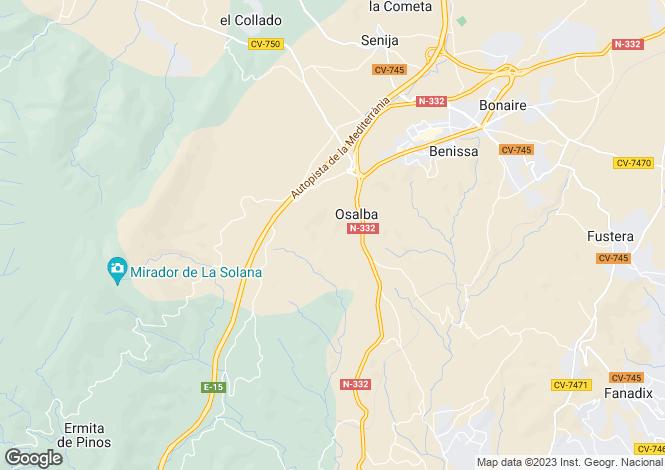 Map for Benissa, Alicante, Valencia