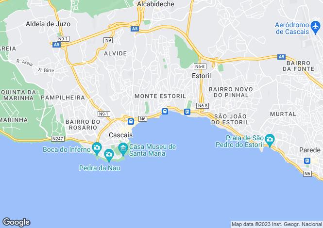 Map for Lisbon, Estoril