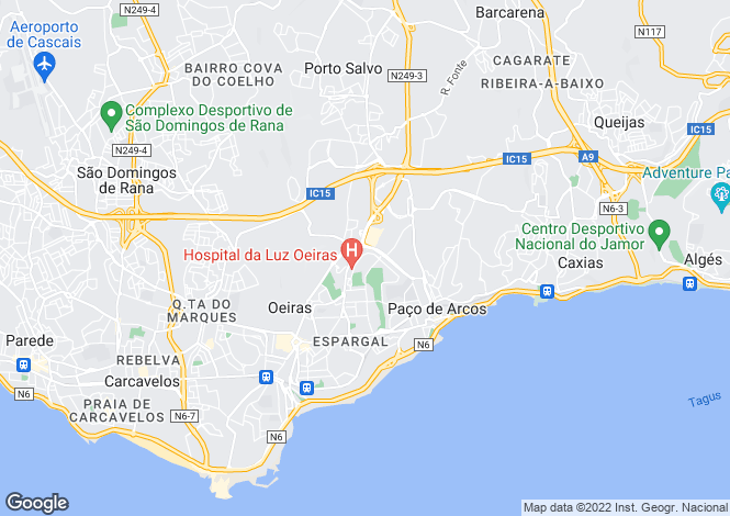 Map for Lisbon, Oeiras