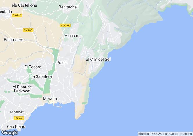 Map for Benitachell/el Poble Nou de Benitatxell, Benitachell/el Poble Nou de Benitatxell, Alicante