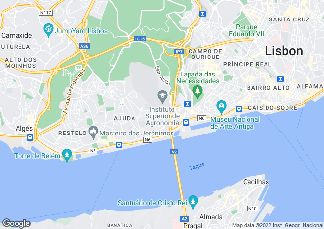 Map for Alcântara, Lisboa, Lisboa
