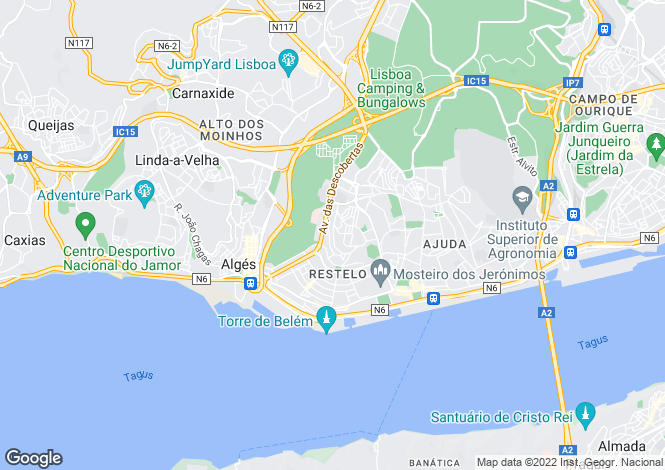 Map for Belém, Lisboa, Lisboa
