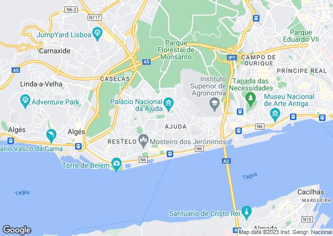Map for Ajuda, Lisboa, Lisboa