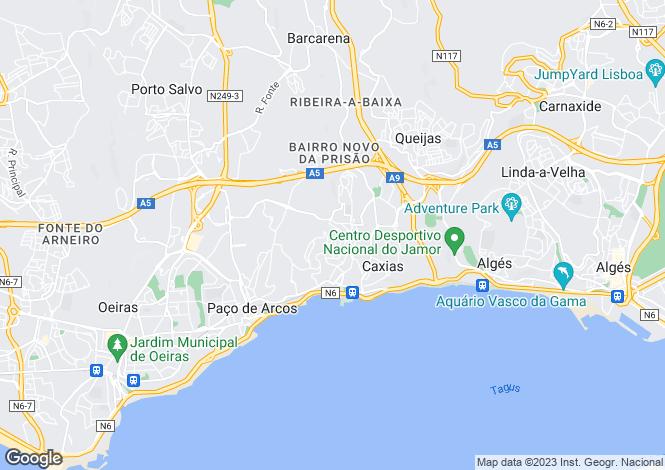 Map for Lisbon, Oeiras